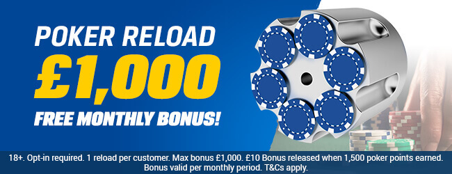 Reload Poker Bonuses